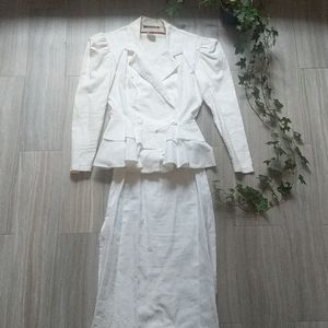 Vintage All That Jazz White Top and Skirt Set